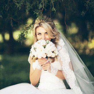 белый свадебный букет одесса