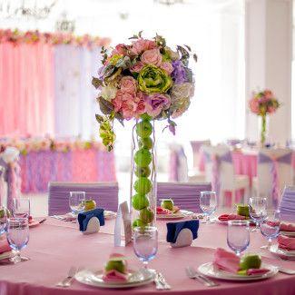 свадебное украшение зала Одесса в ярком стиле