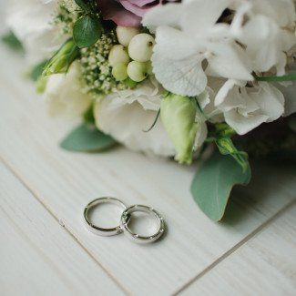 зимний свадебный букет - Love Story