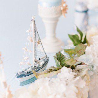 Оформление зала на свадьбу в морском стиле Одессе