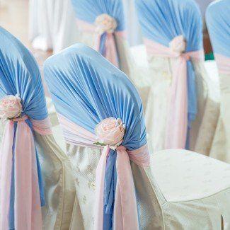 декорирование свадьбы в голубых тонах Одесса