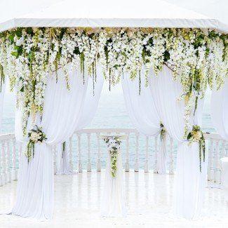 цветочные композиции в оформлении свадебной арки