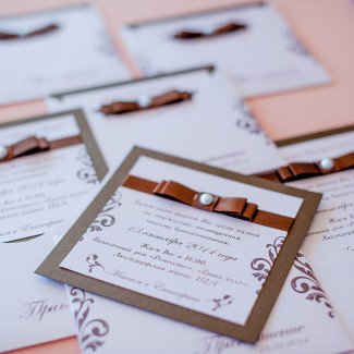 дизайн свадебных пригласительных
