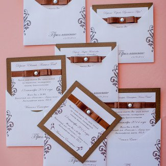 Свадебные пригласительные - Лав Стори