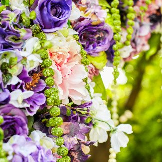 Цветочное оформление свадьбы в лавандовом стиле