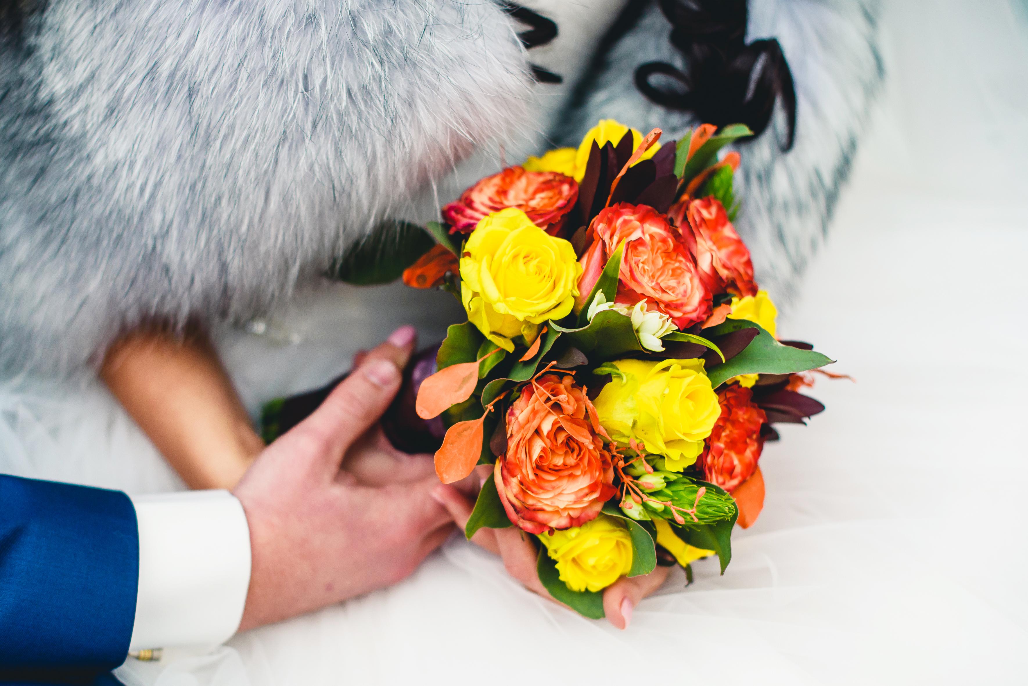 фотографии свадебных букетов