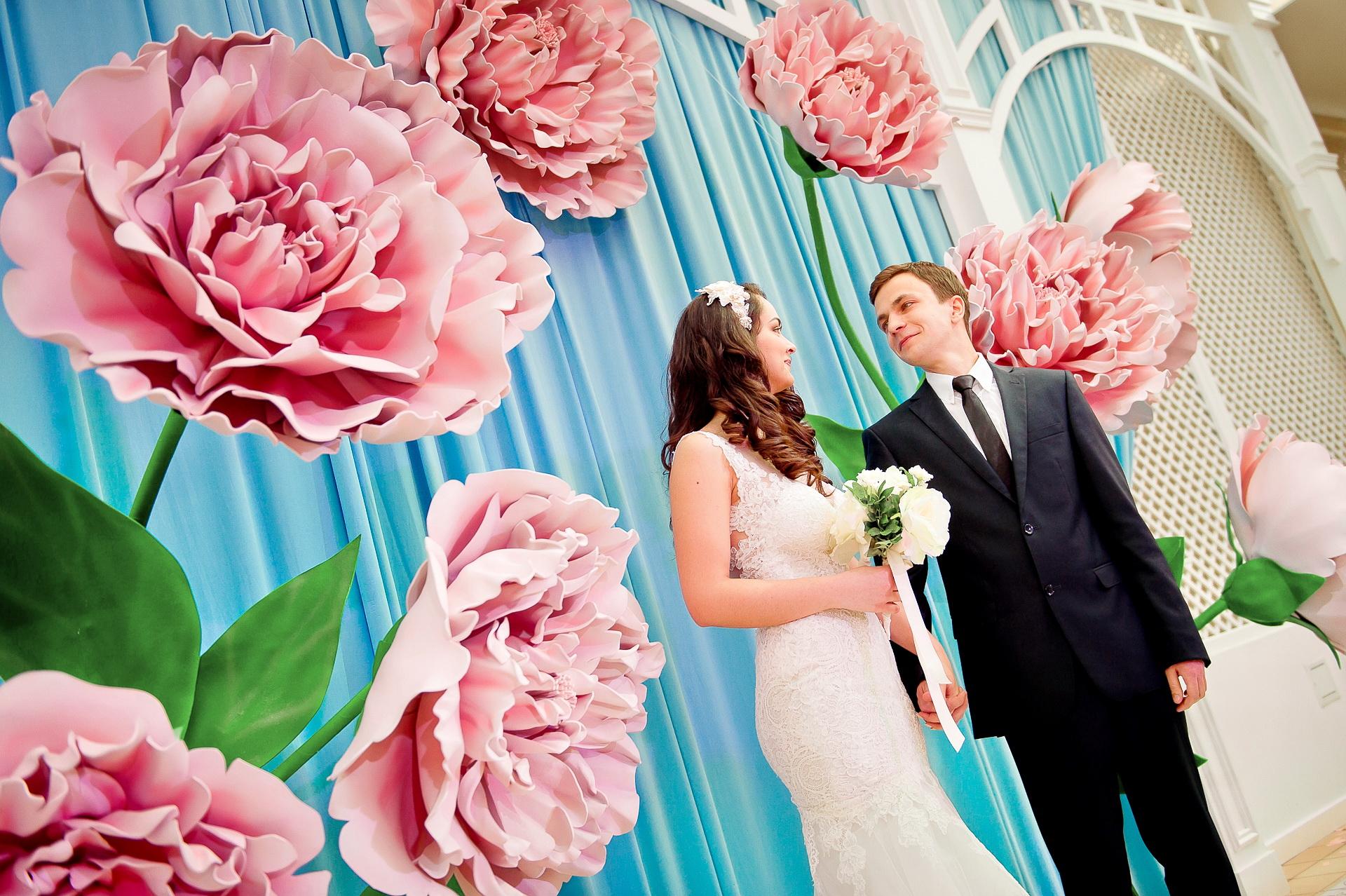 серенити и розовый кварц. Свадьба